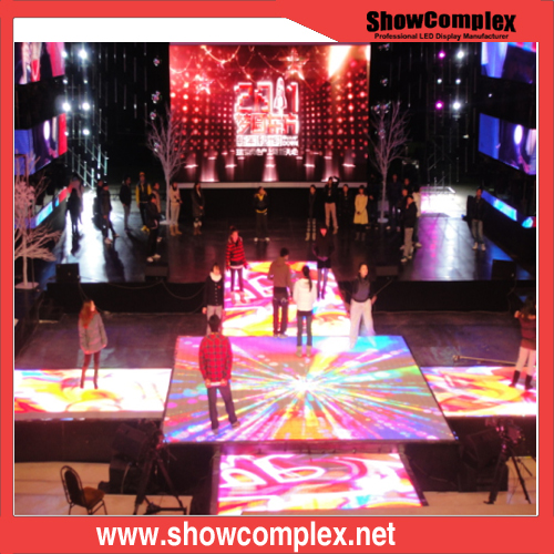 P10 Full Color Dance Floor LED Display Video Wall