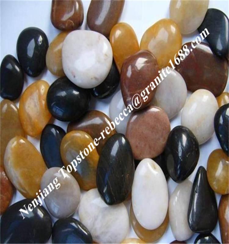 polished pebble, river pebble stone