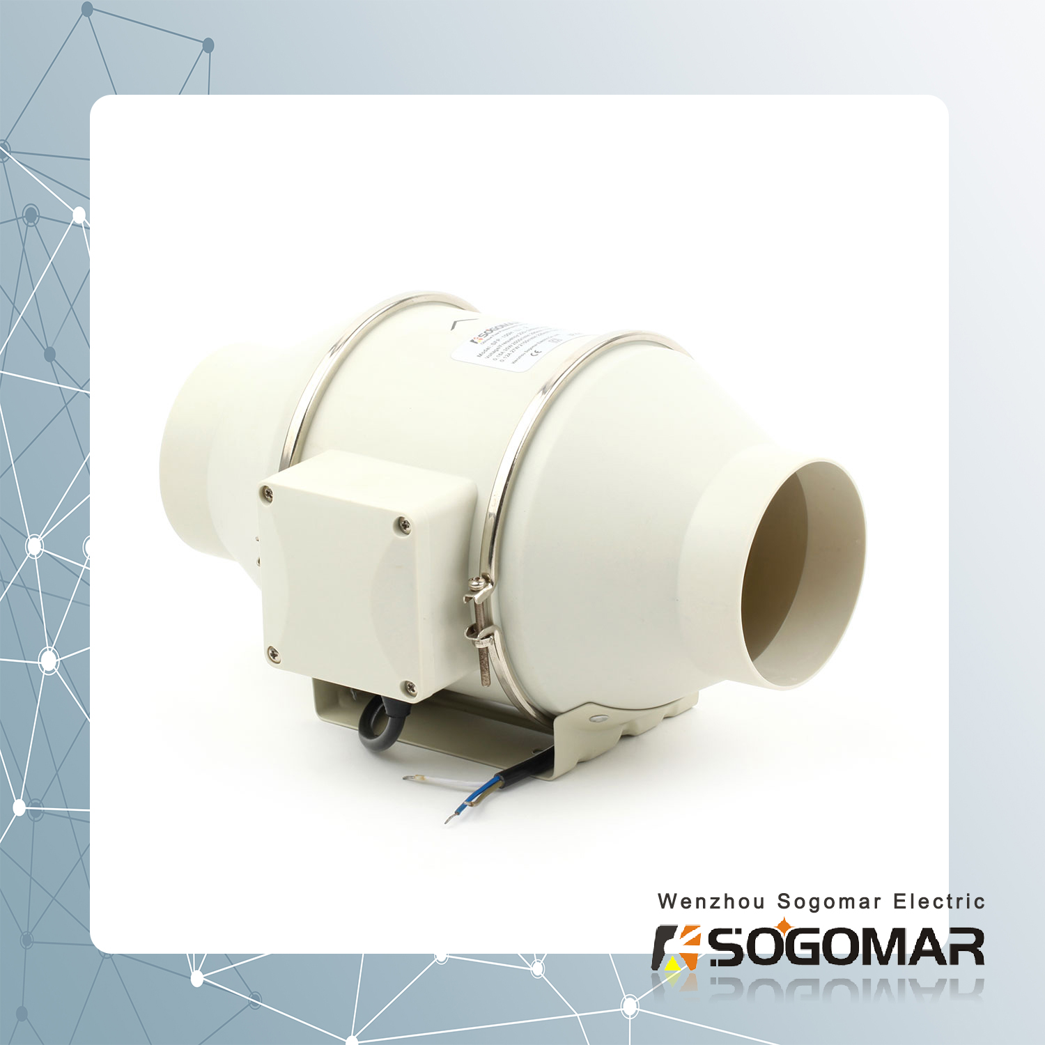 Ventilation Multi-Speed Circulation Duct Pipe Exhaust Fan (SFP-100)