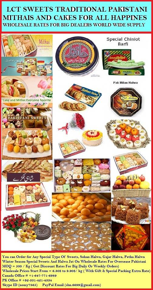 SWEETS AND MITHAI EXPORT QUALITY FOOD WHOLESALE