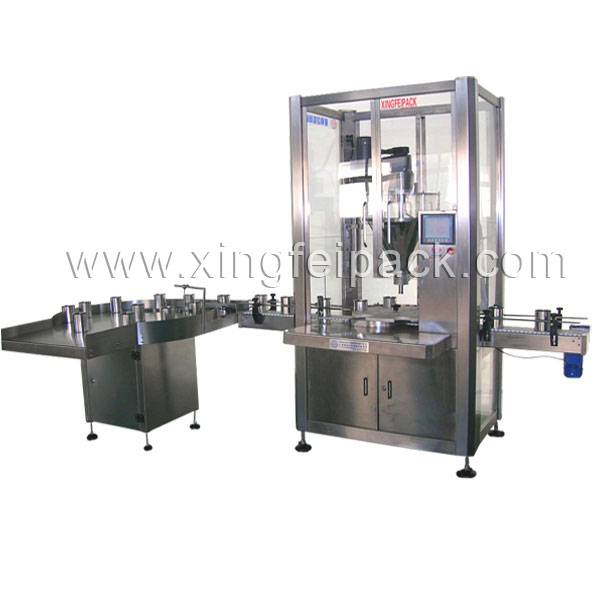 Auto Can feeding, filling and packaging machine