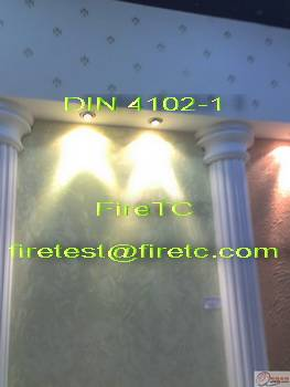 DIN 4102-1 Material's fire behaviour  classification(Class A and Class B)