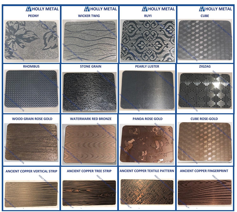 Stainless Steel Decorative Sheet Grade 201 304
