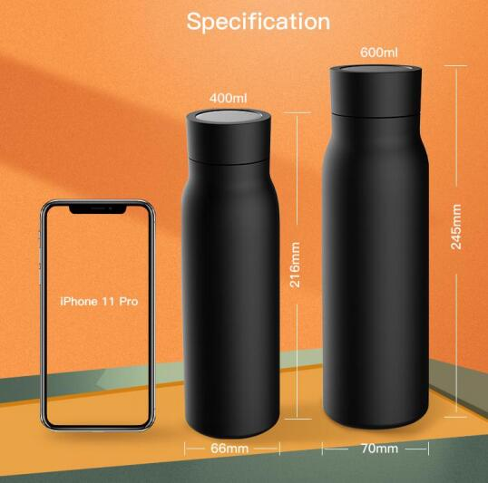 Stainless Steel Travel Mug Smart Water Bottle with Reminder Thermos Thermos Vacuum Water Bottle