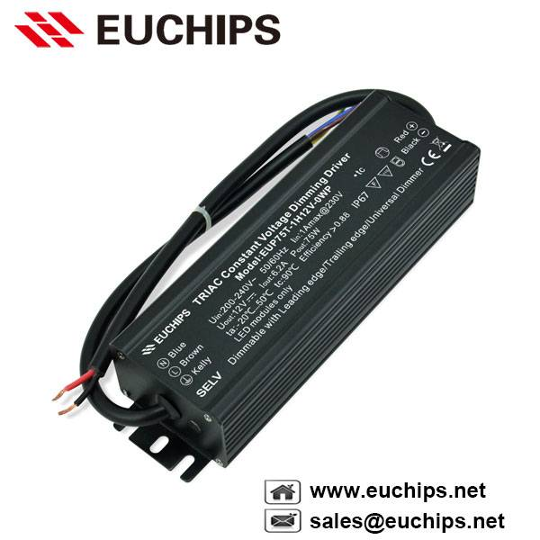 200-240VAC 3.1A 1 channel 75W triac constant voltage dimmable led driver EUP75T-1H24V-0WP
