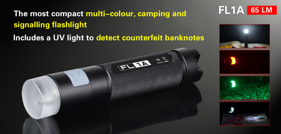 The most compact multi-color camping and signalling flashlight-Klarus FL1A