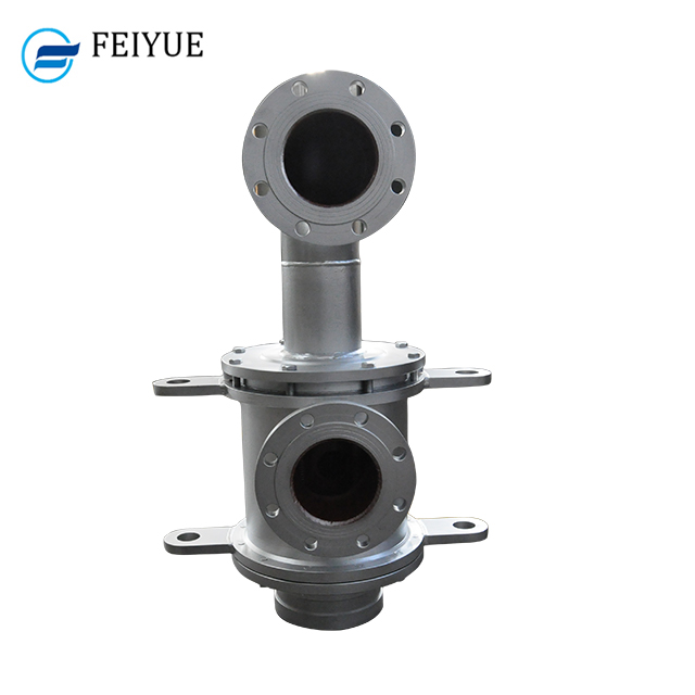 2 channel Hydraulic oil rotary union superheated swivel joint steam rotary joint