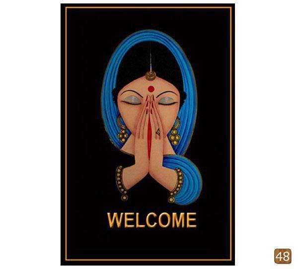 Ethnic Nirmal painting-Welcome