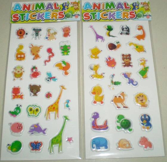 Sponge sticker, Puffy sticker, Bubble sticker, Decorative sticker, DIY sticker, Kids Sticker, PVC st