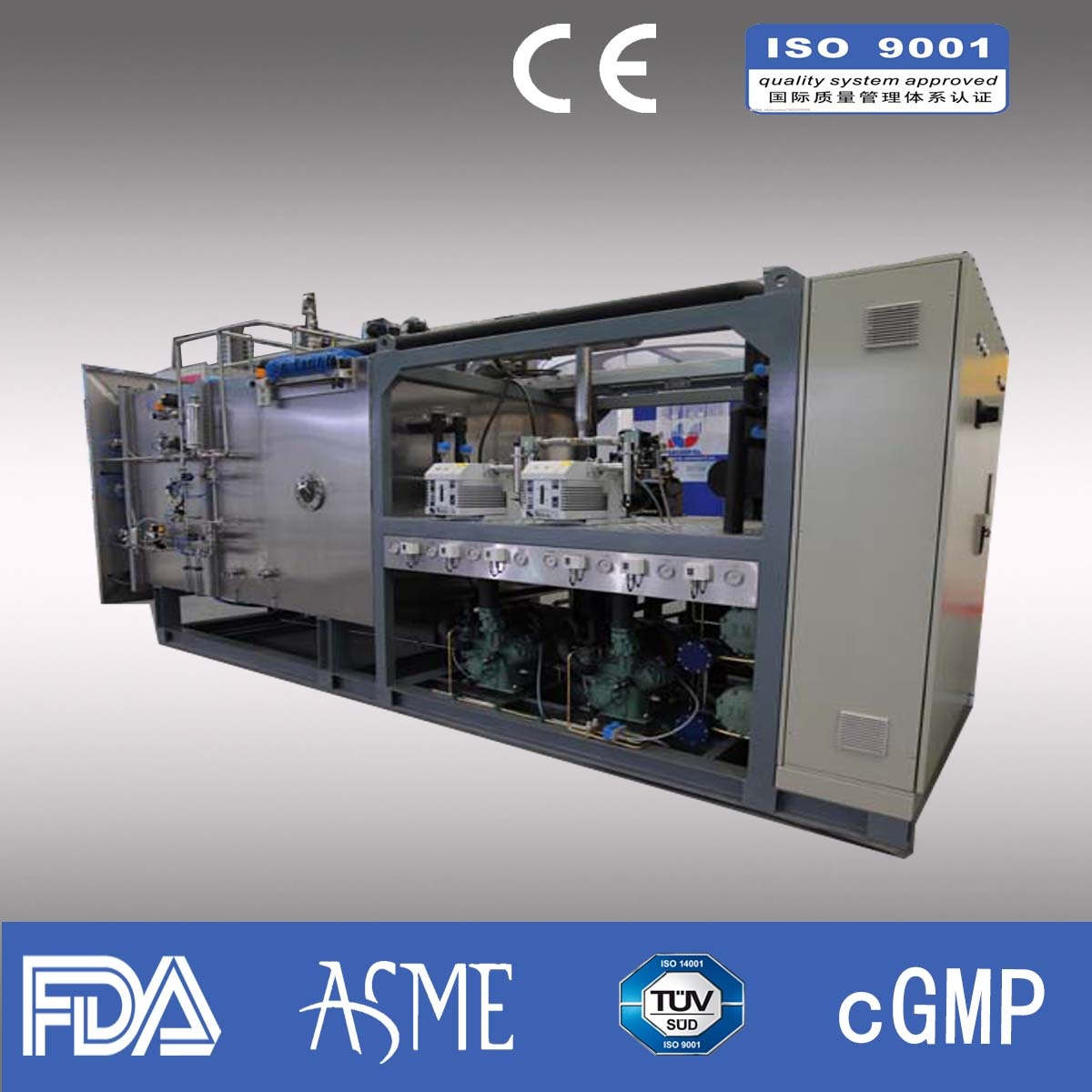800kg/liter Industrial Freeze Dryer/Lyophilizer/ Pharmaceutical freeze dryer