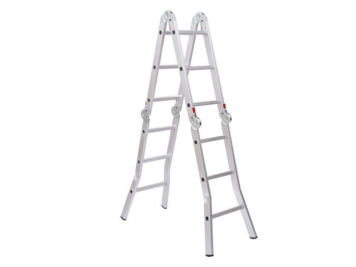 Neosichou 12' Adjustable Multi-Purpose Aluminum Folding Ladder