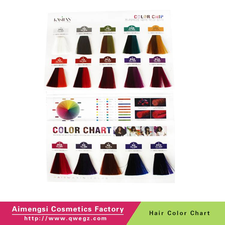 Wholesale hair care products Wellar hair color chart, hair dye color chart for salon