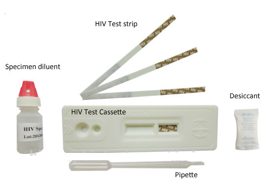 CE Marked IVD Infections disease diagnostic HIV Rapid test Kit HIV 1/2 Ab home rapid test strip
