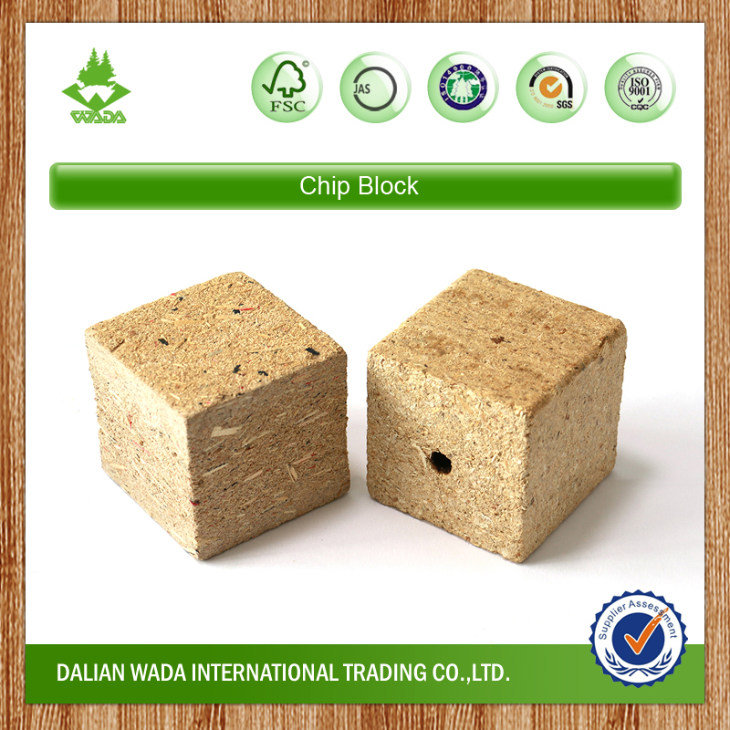 Hollow Chip Block for pallet making