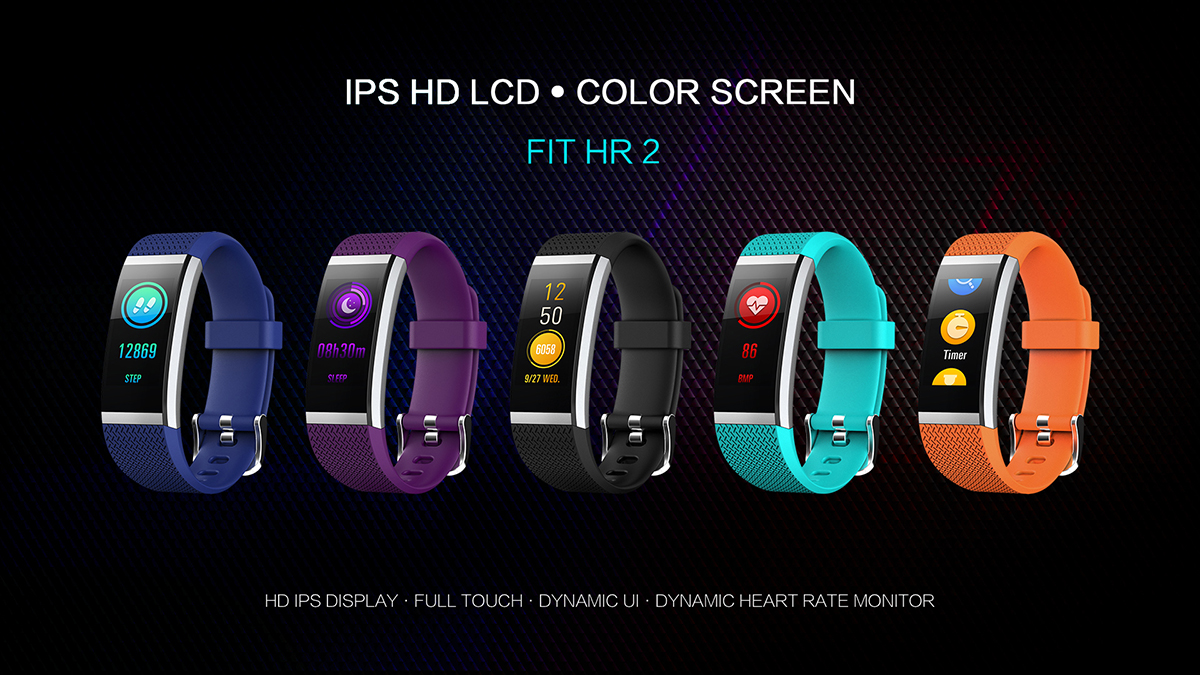 color full touch smart band, smart watch,monitoring, pedometer