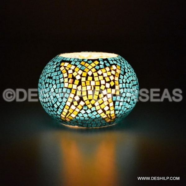 Glass Mosaic Votive