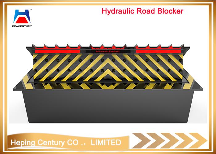 Remote control factory sale hydraulic vehicle spike barrier/steel road blocker