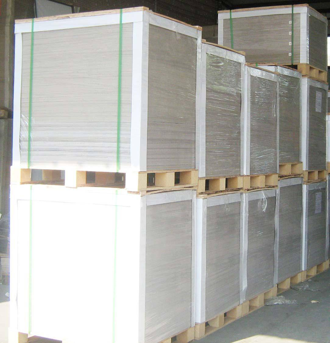 waste paper pulp laminated gray cardboard sheet