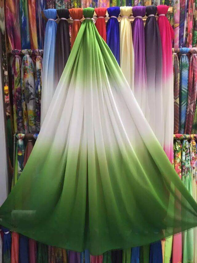 The import of high-grade printing silk georgette fabric in spring and summer dress shirt clothing si