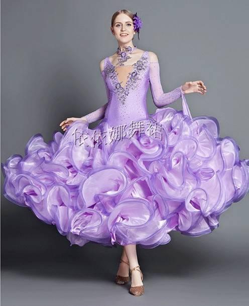 Custom-Made Elegant Ballroom Dance Dress Dancewear