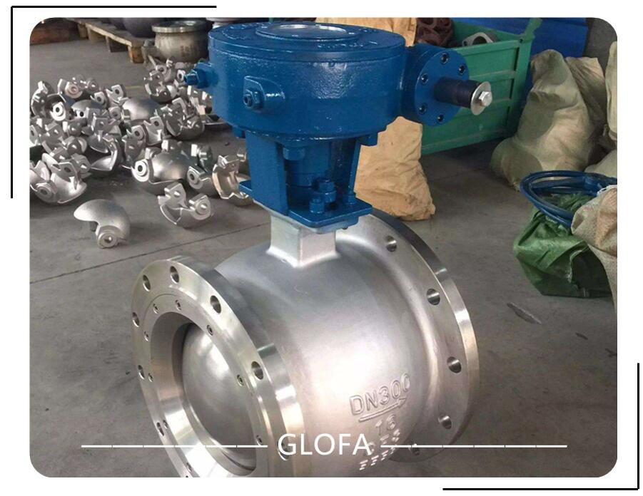 A351 CF8M Stainless Steel 316 flanged segment V type ball valve