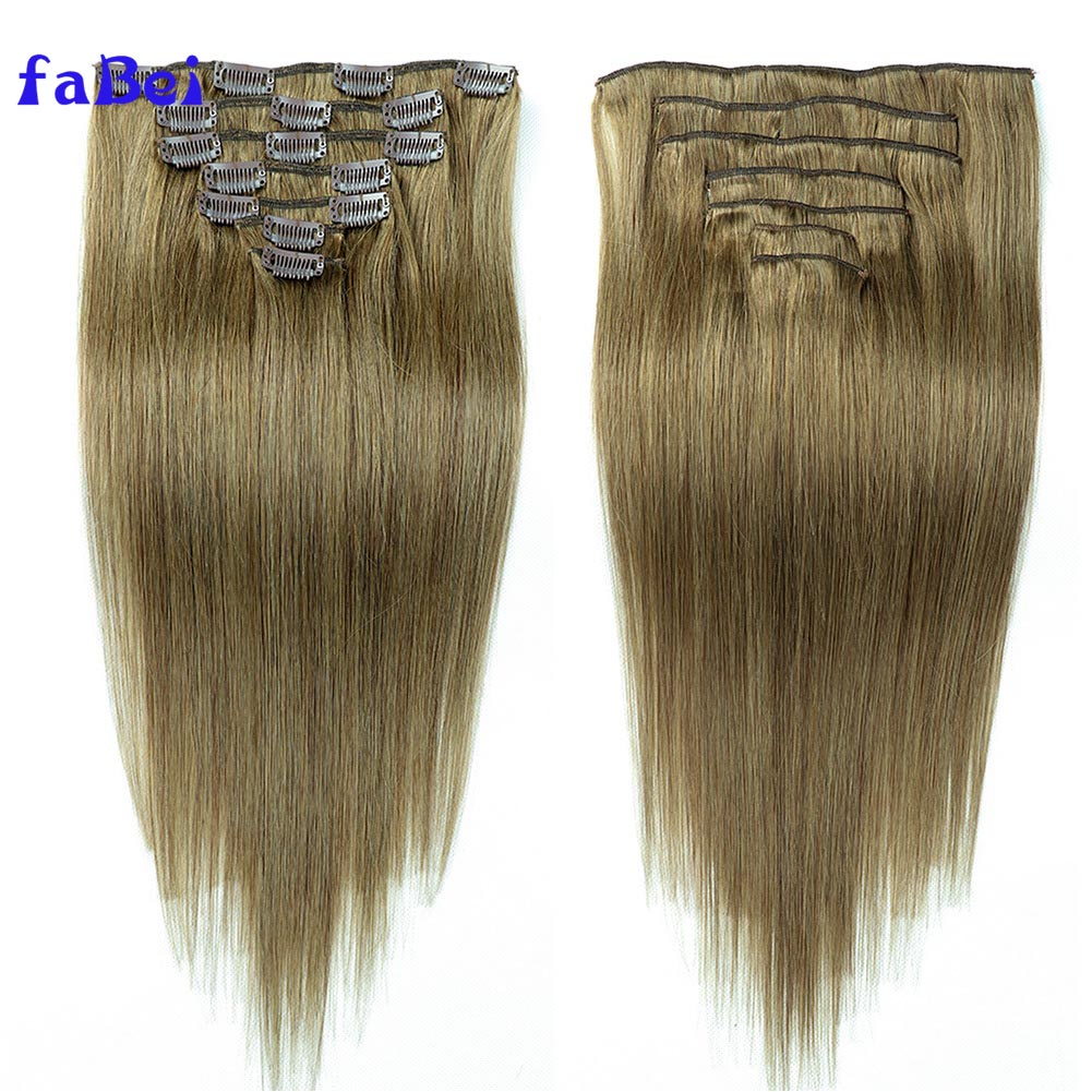 Remy human clip in hair extensions,wholesale clip-in human hair extensions,cheap clip hair