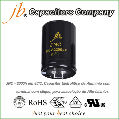 JNC - 2000H at 85°C Snap-in Aluminum Electrolytic Capacitor