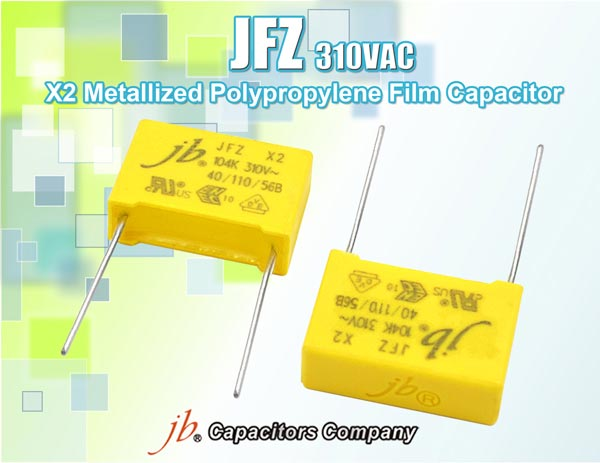 JFZ - X2 Metallized Polypropylene Film Capacitor (310VAC)
