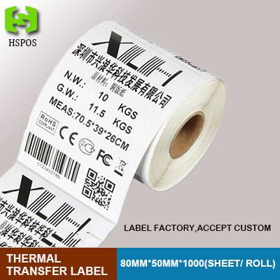 Thermal stickers paper 80*50mm 1000 sheets printed business labels customized etiquetas papel adhens