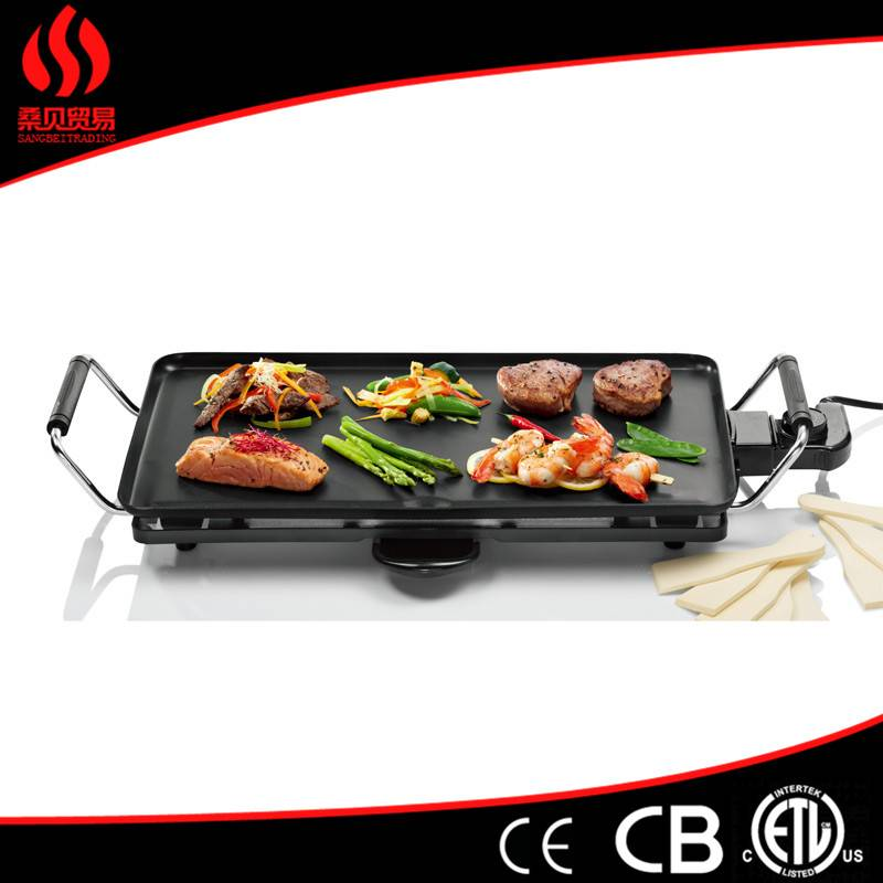 Homehold Non-stick Electric bbq grills with GS, ETL, CE, ROSH