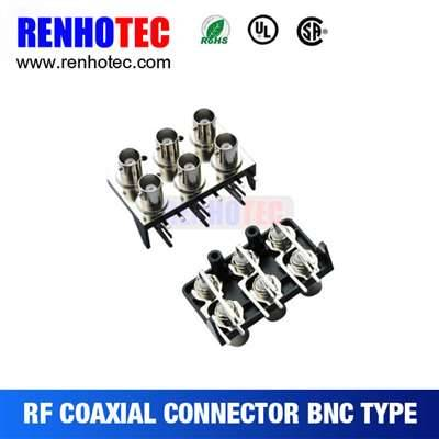 Six BNC Jack Connnectors In Two Rows