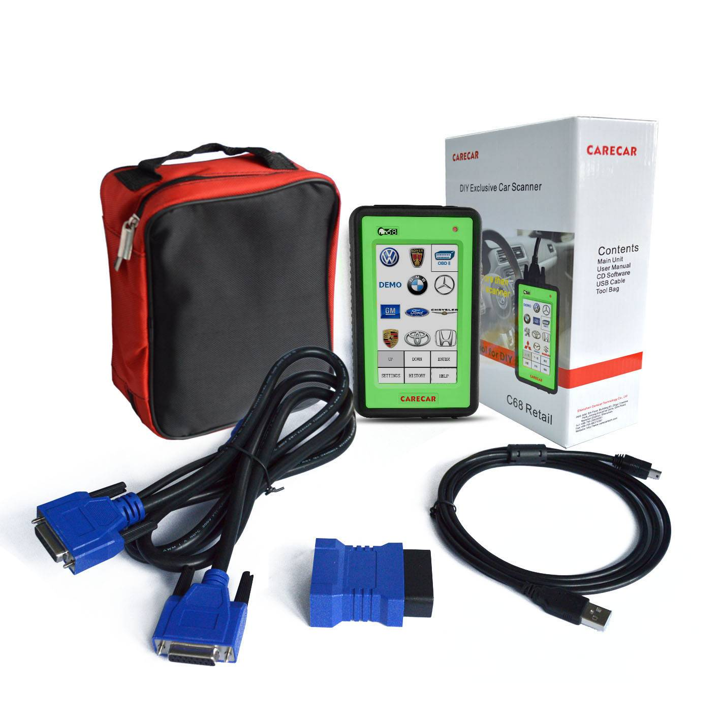 CARECAR Auto Hand Held Diagnostic Scanner C68 Retail