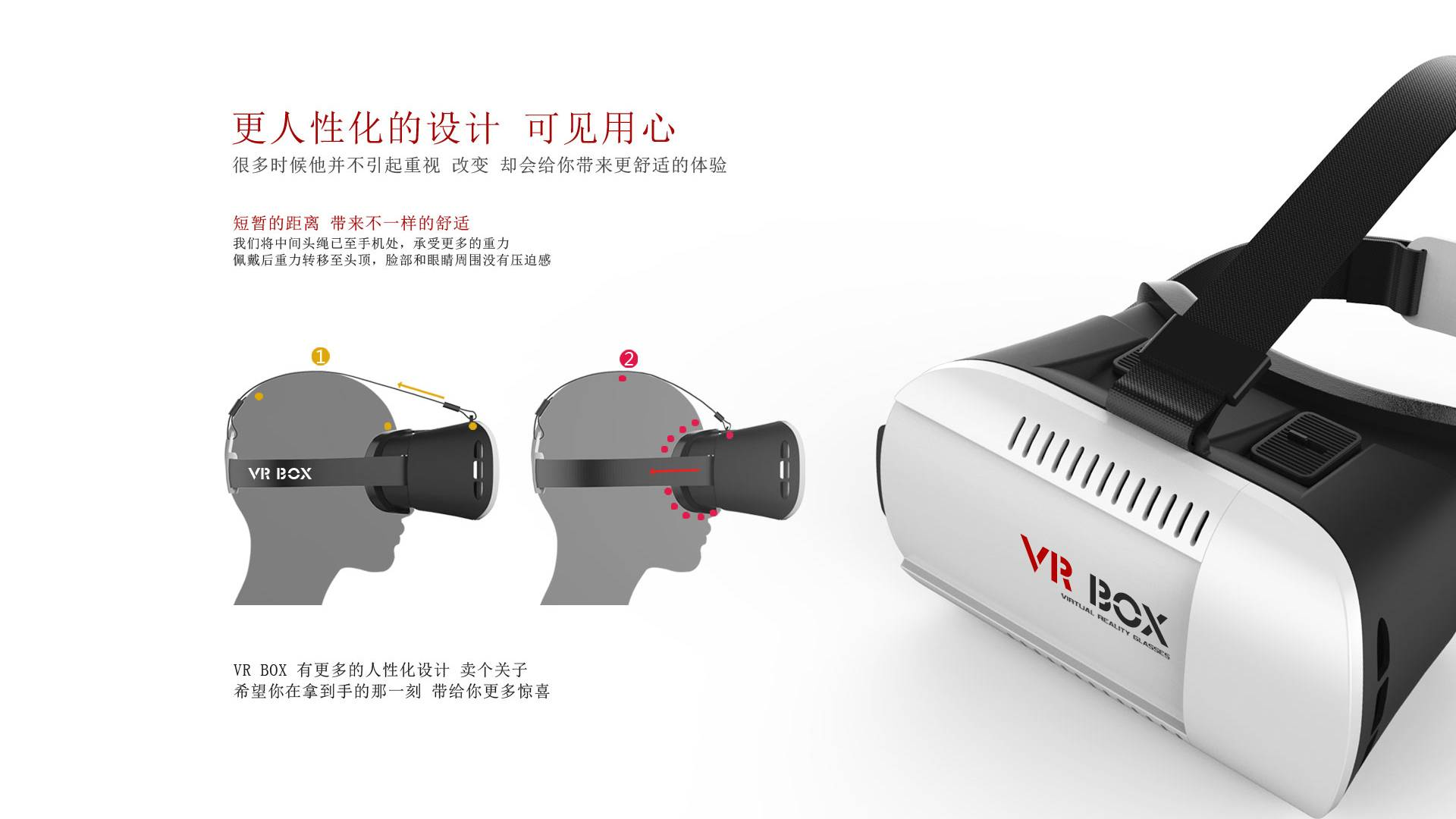 Video Movie Game Glasses Vr Case 3D Glasses for 4.7~6 Inch for Mobile