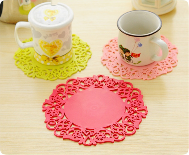 Customize Promotional PVC Tea Cup Coaster