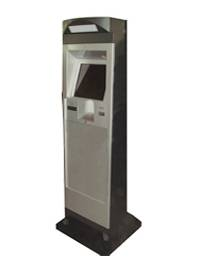 T5 all steel selfservice payment touchscreen kiosk terminals with industrial IPC metal keyboard bank
