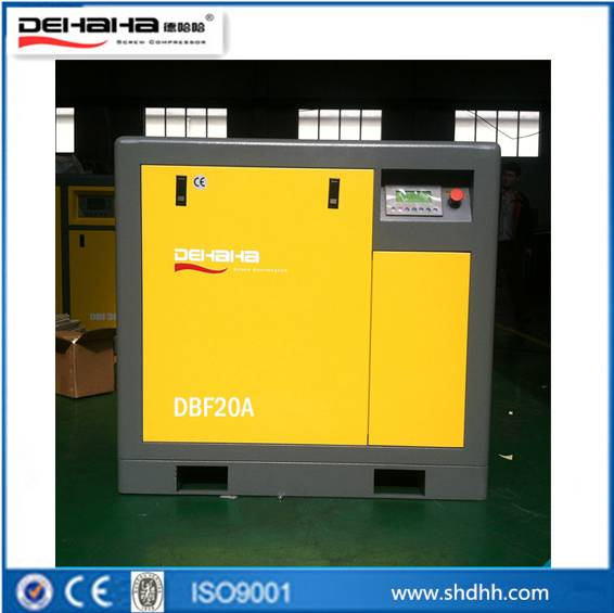 Belt driven inverter screw air compressor