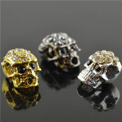Skull Metal Alloy Beads