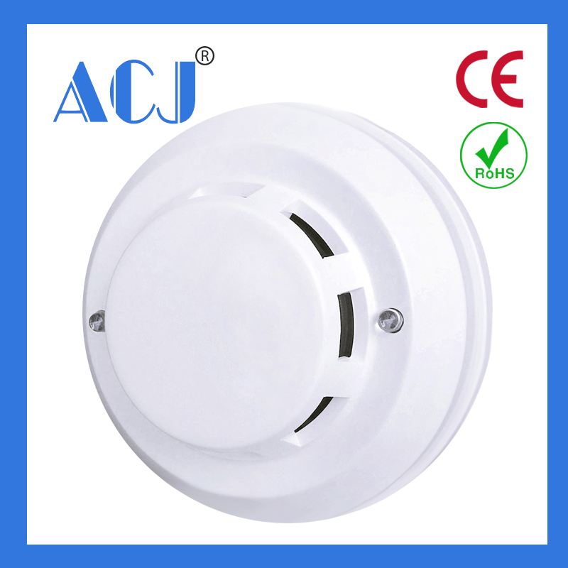 Hot selling photoelectric Wired smoke detector