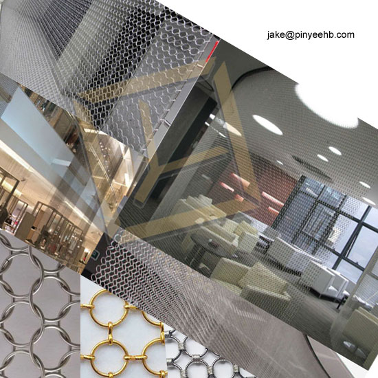 Welded Stainless steel ring mesh chain mail mesh curtain