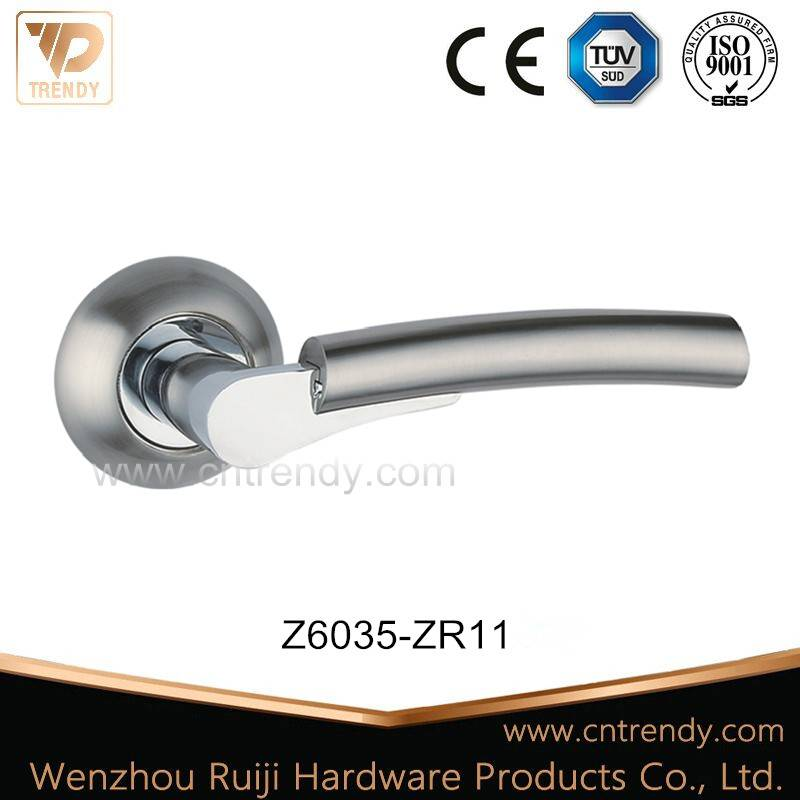 Latest Zamak Interior Wooden Door Lever Handle with Two Part (Z6035-ZR11)