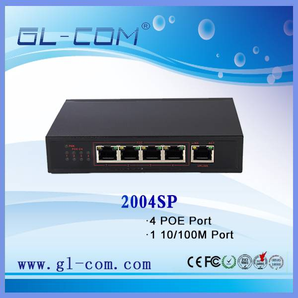 Features §  IEEE 802.3af Power over Ethernet standard §  Supports 10/100Mbps fast Ethernet §  4 x 10
