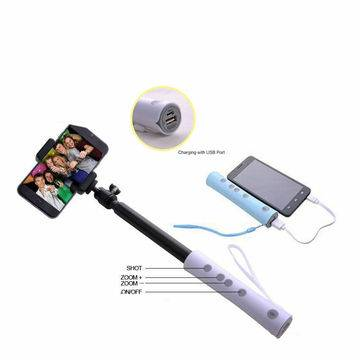 Selfie stick with power bank, 3 in 1 Selfie stick & Power Bank & Remote ShutterNew