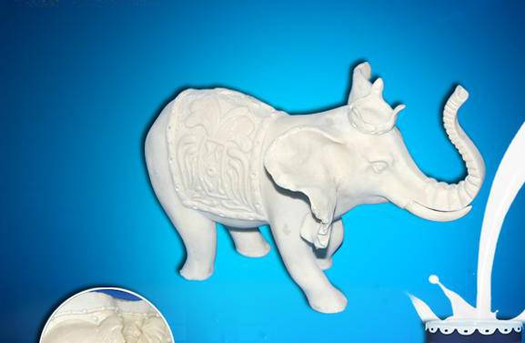 gypsum crafts silicone rubber