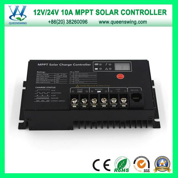 10A MPPT Controller 12/24V Solar Power System Controllers (QW-MT10A)
