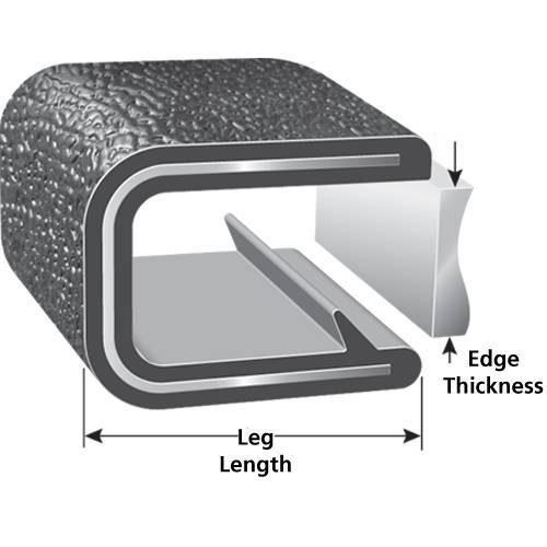 rubber edge trim seal pvc strip profille