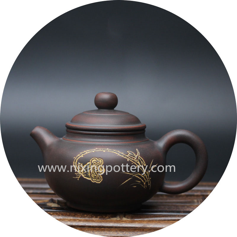 Small Teapot Antique Pot Nixing Pottery Pure Handmade 100ml Teapot Fang Gu Pot