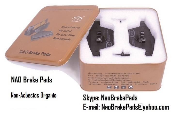 NAO Brake Pads, Passenger Vehicle Brake Pads, Organic Brake Pads dealer, Disc Pad manufacturer, Auto