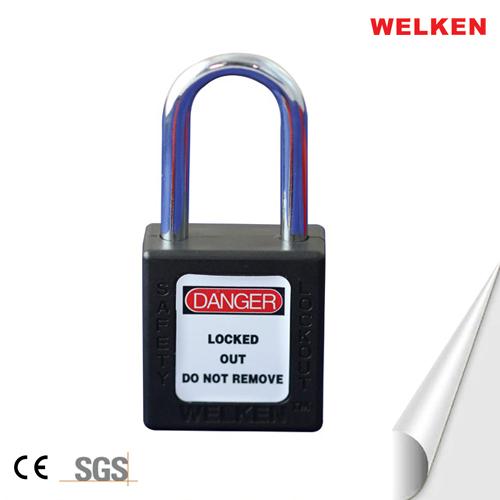 Stainless steel shackle padlock
