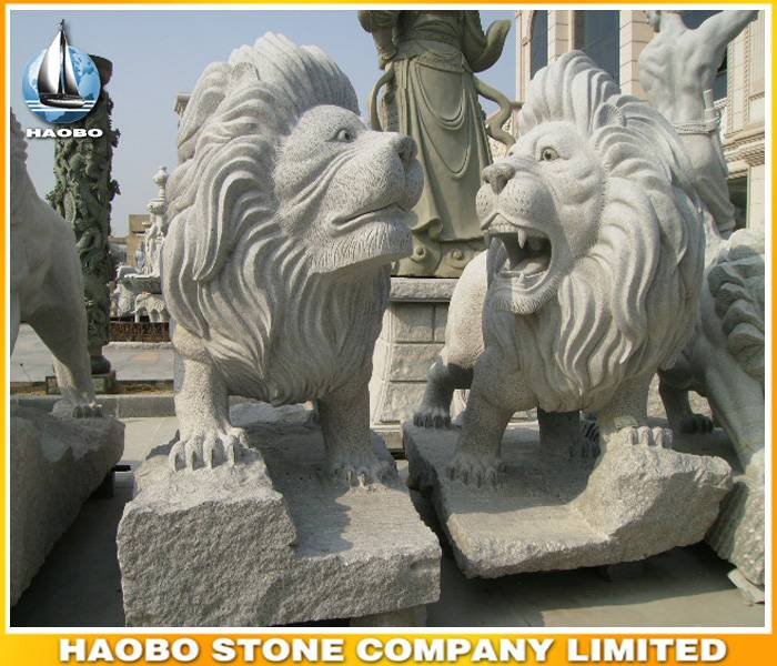 Granite Lions Sculpture Life Size