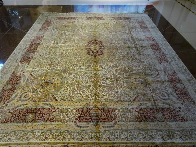 Wholesale design handmade silk tabriz shiraz rug